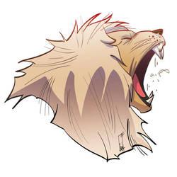 Lion's roar by tanglong