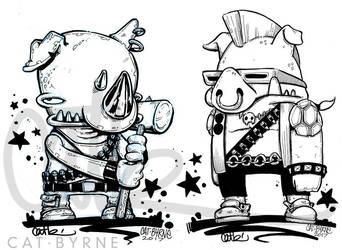Chibi Bebop and Rocksteady by CatByrne