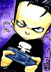 The Punisher sketch card by CatByrne