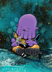 Baby Thanos (print available) by CatByrne