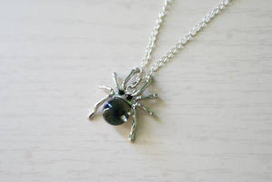 Tiny Spider Necklace by MonsterBrandCrafts