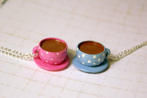Teacup Necklaces by MonsterBrandCrafts