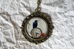 Poe's Pocket Watch - Necklace by MonsterBrandCrafts