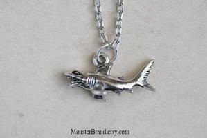 Tiny Shark Necklace by MonsterBrandCrafts