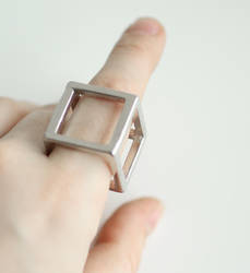 Cube Ring FOR SALE by MonsterBrandCrafts