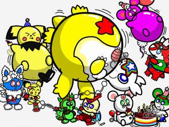 Starreon's balloon Party Fever. by Eeveeboss