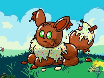 Cookie The Ice Cream Balloon Eevee by Eeveeboss