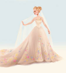 Cinderella in Wedding Dress by DylanBonner
