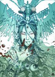 Project: K.O. Close-up of TheThree-Eye God. by xinillus