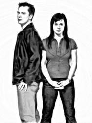 Capt Jack and Gwen by jimroberton