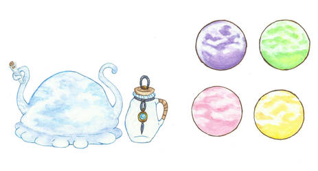 [PA Bestiary] -Chill Slime- by KnightLycoris
