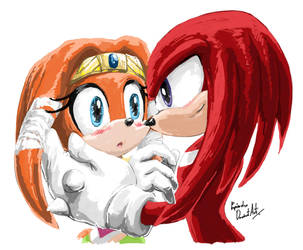 Tikal and Knuckles by propimol