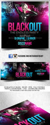 Blackout Flyer with FB and Instagram Template by Grandelelo