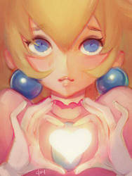 Heart Peach by mldoxy