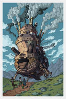 Howl's Moving Castle by ArtByGiuseppe