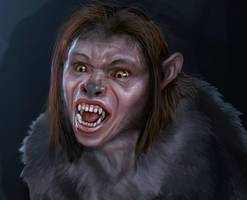 Werewolf Girl 1 by liminalbean