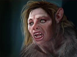 Werewolf Girl 2 by liminalbean
