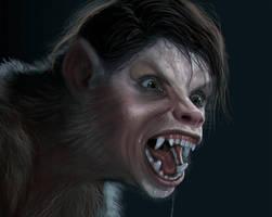 Werewolf Girl 3 by liminalbean