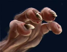 Werewolf Hand Detail by liminalbean