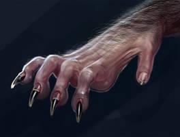 Werewolf Hand Detail 2 by liminalbean