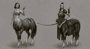 Skyrim Centaur Concept by liminalbean