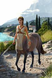 Kentauride at Pelion by liminalbean