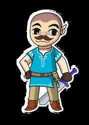 [gift] Chris as BotW Toon Link by Raben-Katze