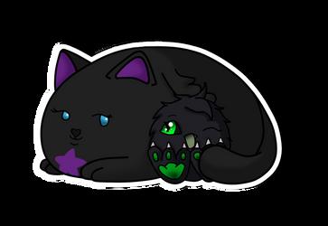 [gift] mascots cuddle by Raben-Katze