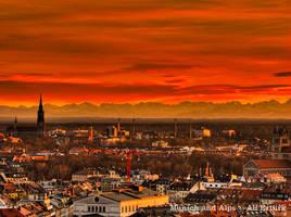 Munich and Alps by alierturk