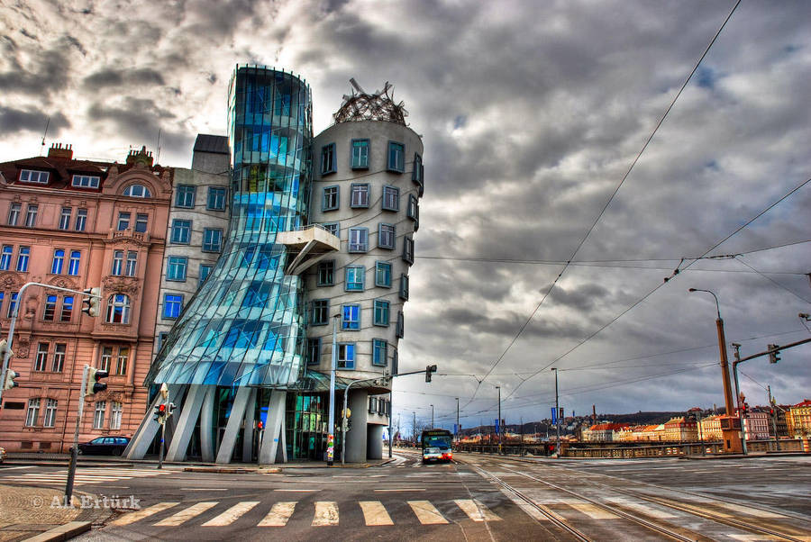 Prague, Dancing House by alierturk