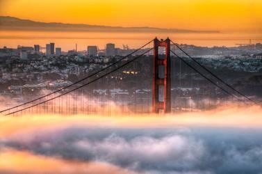 San Francisco, Golden Gate in fire chamber by alierturk