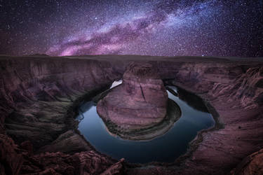 Horseshoe bend, milky way by alierturk