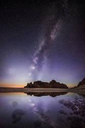 Big Sur, two galaxies by alierturk