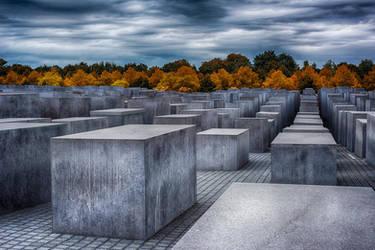 Berlin, holocaust memorial indian summer by alierturk