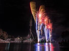 Munich, Olympia Fireworks by alierturk