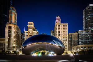Chicago bean, night by alierturk