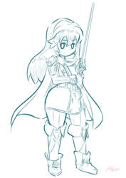 Lucina Sketch by JellyJigs