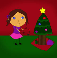 Animal Crossing Christmas (in color) by BreanaStar