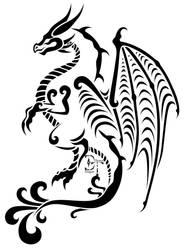 Dragon Tattoo by Melydion