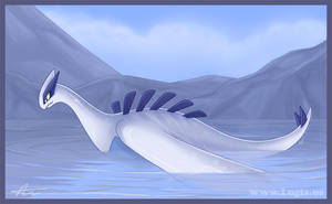 Loch Ness Lugia Coloured by Articuno