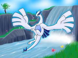 Lugia's Waterfall by Articuno