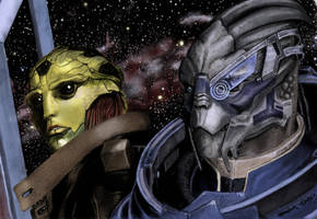 My Beautiful Boys: Thane And Garrus by dmbarnham