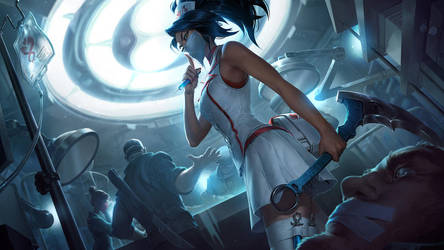 Nurse Akali - League of Legends by Izaskun