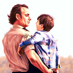 dad and son by 00sakon00