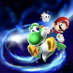 Super Mario Galaxy 2 by Foxeaf