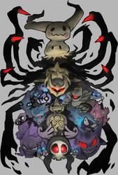 Ghost Pokemon by Foxeaf