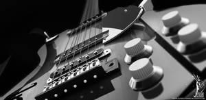 Black and White Guitar by ASkBlaster