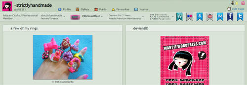 da profile bar with social web buttons suggestion by strictlyhandmade