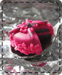 strawberry cake pendant by strictlyhandmade
