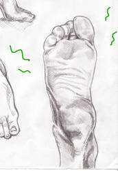 Foot study by ThatJellyfish